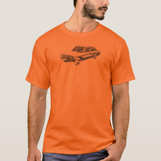Mercedes Benz W123 with OM617 on back T-Shirt