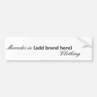 Mercedes Bumper Sticker