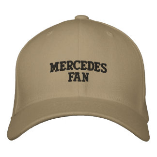 MERCEDES FAN EMBROIDERED BASEBALL CAPS