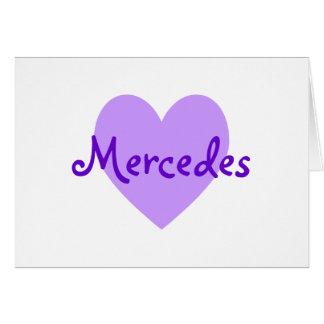 Mercedes in Purple Card