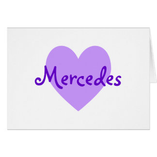 Mercedes in Purple Greeting Card