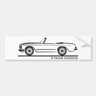 Mercedes SL Pagode Pagoda Kabrio Bumper Sticker
