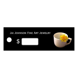 Merchandise Price Tags (Coffee Cup w/Flower) Business Card