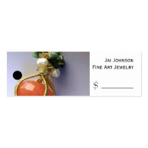 Merchandise Price Tags (Jewellery) Pack Of Skinny Business Cards