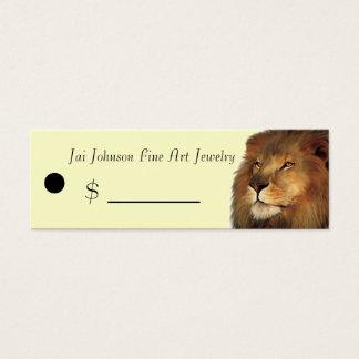 Merchandise Price Tags (Lion) Mini Business Card