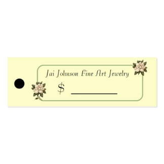 Merchandise Price Tags (Magnolia Flowers) Business Card Template