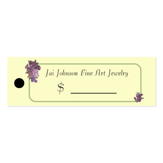 Merchandise Price Tags (Purple Flowers) Business Card