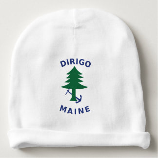 Merchant and Marine Flag of Maine Baby Beanie