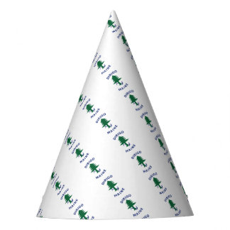 Merchant and Marine Flag of Maine Party Hat