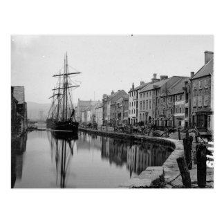 Merchant Ships, Newry Ireland, vintage Postcard