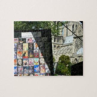 Merchant Stall Near Notre Dame Jigsaw Puzzle