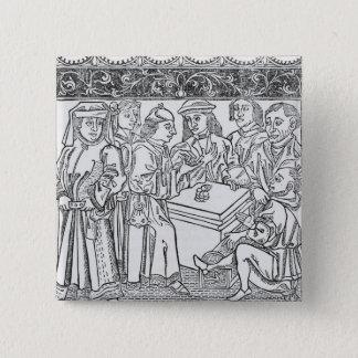 Merchants and Moneylenders 15 Cm Square Badge