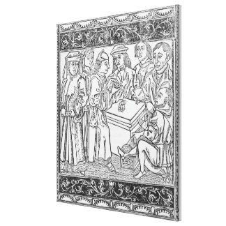 Merchants and Moneylenders Canvas Print