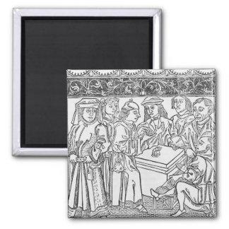 Merchants and Moneylenders Square Magnet