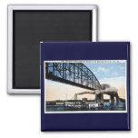 Merchants Bridge, Mississippi River, St. Louis, MO Refrigerator Magnet