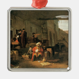 Merchants from Holland and the Middle East trading Christmas Ornament