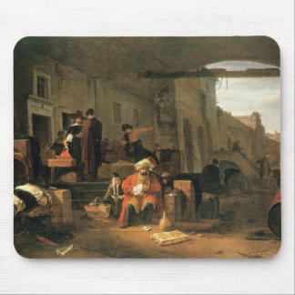 Merchants from Holland and the Middle East trading Mouse Mat