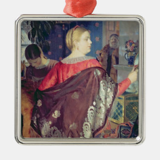 Merchant's woman with a mirror christmas ornament