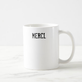 Merci Coffee Basic White Mug