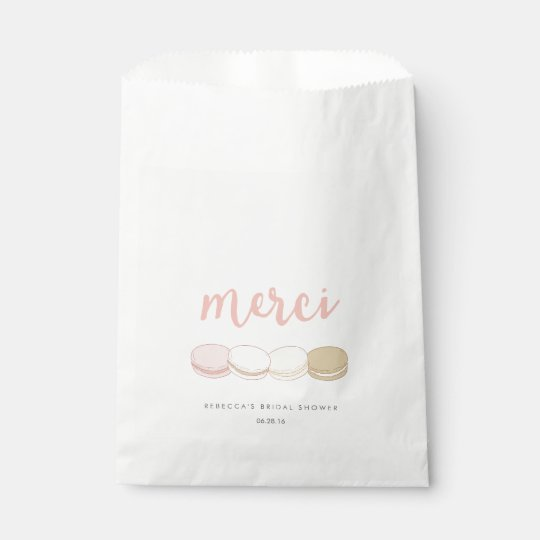 Merci French Macarons Bridal Shower Favour Bags