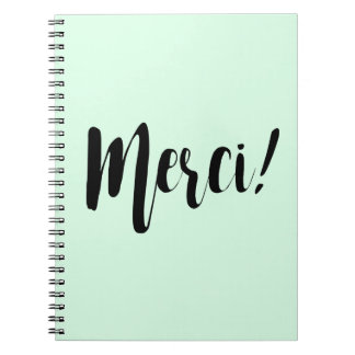 Merci Notebook Pastel Mint
