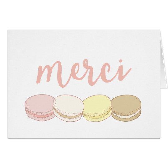Merci Pastel French Macarons Thank You Card