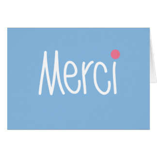 Merci - Thank you in any language Card