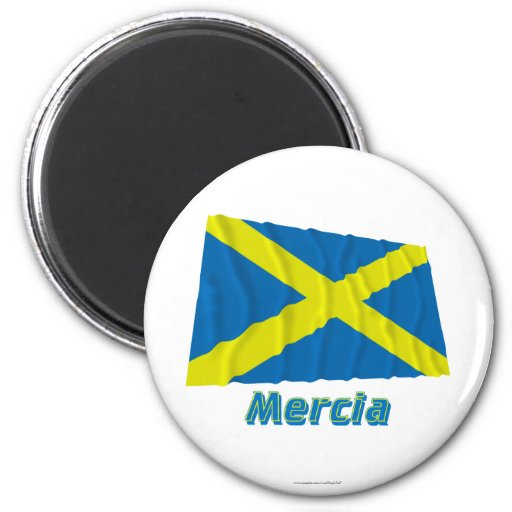 Mercia Waving Flag with Name Refrigerator Magnet