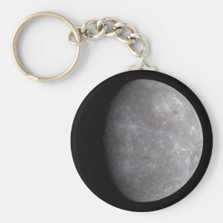 Mercury Basic Round Button Key Ring