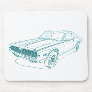 Mercury Cougar 1968 Mouse Pad