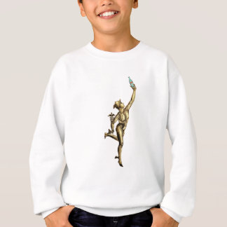Mercury Enjoying A Beer - Vintage Illustration Sweatshirt