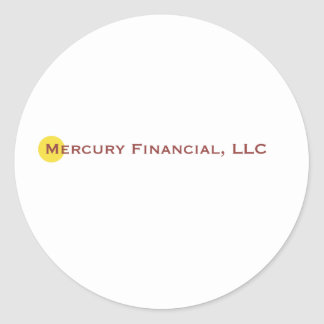 Mercury Financial Logo I Round Sticker