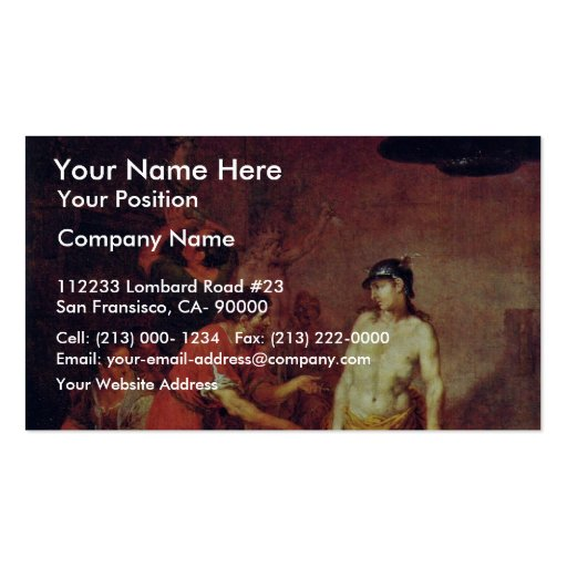 Mercury In The Workshop Of The Sculptor By Zick Ja Business Card Templates