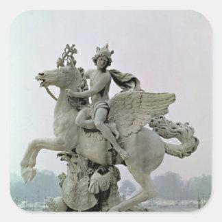 Mercury on Pegasus  1701-02 Square Sticker