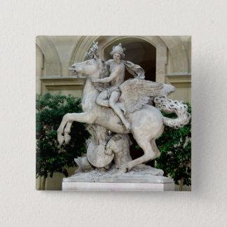Mercury riding Pegasus 15 Cm Square Badge