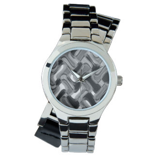 Mercury & Sable Women's Wraparound Silver Watch