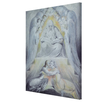 Mercy and Truth are met together Stretched Canvas Print