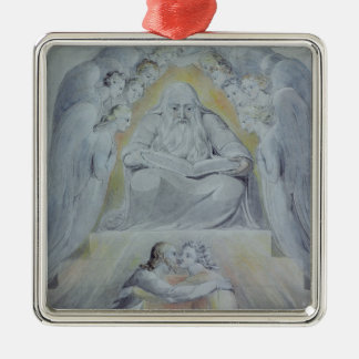Mercy and Truth are met together Silver-Colored Square Decoration