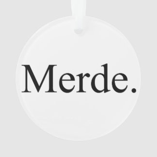Merde ornament for ballet dancers - good luck