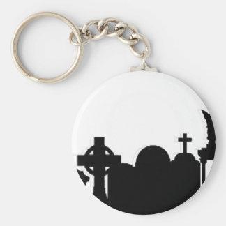 Merdead Cityscape Basic Round Button Key Ring