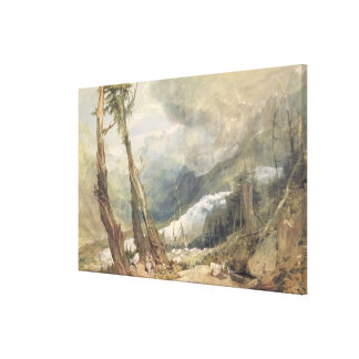 Mere de Glace, in the Valley of Chamouni, Switzerl Canvas Print