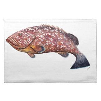 Mere, fish garopa, chernia placemat