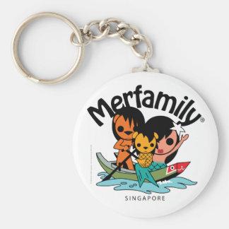 Merfamily® Singapore Sampan Keychains