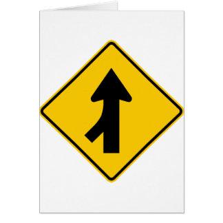 Merging Traffic Highway Sign (Left) Card