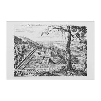 MERIAN: Heidelberg Castle and Royal Gardens 1620 Acrylic Wall Art