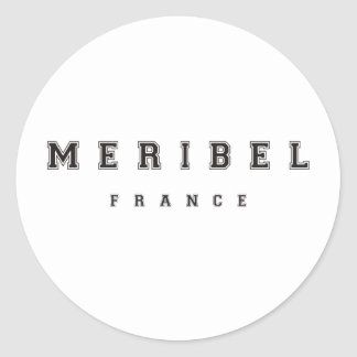 Meribel France Classic Round Sticker