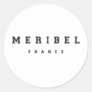 Meribel France Classic Round Sticker