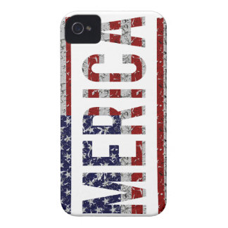 MERICA - American Pride Slang USA Flag iPhone 4 Case-Mate Cases