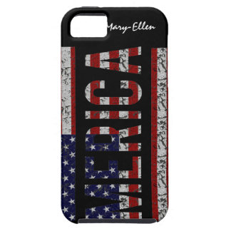 MERICA - American Pride Slang USA Flag Tough iPhone 5 Case