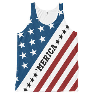 'Merica Awesome All-Over Printed Unisex Tank